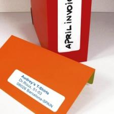 APLI Etikett, 31x100 mm, kerekített sarkú, A5 hordozón, APLI, 120 etikett/csomag etikett
