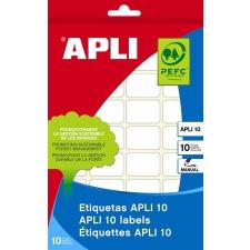 APLI Etikett, 50x70 mm, kézzel írható, kerekített sarkú, APLI, 40 etikett/csomag etikett