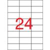 APLI Etikett, 70x37 mm, felülcímkézéshez (tökéletes fedés), 480 etikett/csomag
