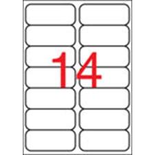 APLI Etikett, 99,1x38,1 mm, poliészter, kerekített sarkú, APLI, átlátszó, 140 etikett/csomag etikett