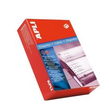 APLI Etikett, mátrixnyomtatókhoz, 1 pályás, 101,6x36 mm, , 4000 etikett/csomag etikett