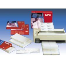 APLI Etikett, mátrixnyomtatókhoz, 3 pályás, 88,9x23,3 mm, APLI, 18000 etikett/csomag etikett