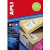 """APLI Etikett, univerzális, 105x74 mm, extra erős, APLI """"Super Sticky"""", 800 etikett/csomag"""