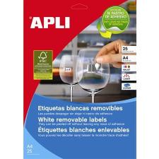 APLI Etikett, univerzális, 17,8x10 mm, eltávolítható, kerekített sarkú, APLI, 6750 etikett/csomag etikett