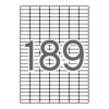APLI Etikett, univerzális, kerekített sarkú, 25,4x10 mm, , 1890 etikett/csomag