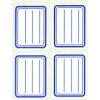 APLI Füzetcímke, kék szegélyes, vonalas, 38x50 mm, 20 db, APLI [5 lap]