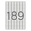 APLI kerekített sarkú, 25,4x10 mm univerzális Etikett (10 lap)