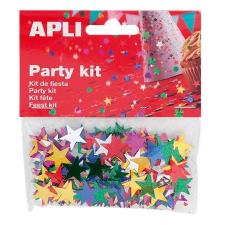 APLI Konfetti, metál,15 mm, csillag, , vegyes színek party kellék