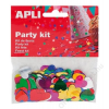 APLI Konfetti, metál, 15 mm, szív, APLI, vegyes színek (LCA13820)