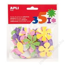 APLI Moosgumi, öntapadó, glitteres, virágok, APLI Eva Sheets, vegyes színek (LCA13078) dekorgumi