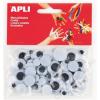 APLI Mozgó szem, kör, APLI Creative, fekete-fehér (LCA13058)