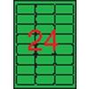 APLI Neon zöld etikett, 64 x 33,9 mm, kerekített sarkú, 480 etikett/csomag