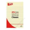APLI Öntapadó jegyzettömb, vonalas, 100x150 mm, 100 lap, APLI, sárga (LNP13370)