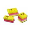 APLI Öntapadós jegyzettömb kocka, 250 lapos, neon színekben, 51 x 51 mm