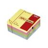 APLI Öntapadós jegyzettömb kocka, 400 lapos, pasztell színekben, 75 x 75 mm