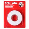 APLI Ragasztó tekercs, 3D, kétoldalas, szivacs, , 19 mm x 2,28 m, fehér