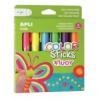 """APLI Tempera stift készlet, toll alakú, APLI \""""Kids\"""", 6 különböző fluoreszkáló szín [6 db]"""