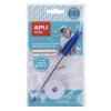 APLI Textilszalag, vasalható, 200x10 mm, tollal, APLI, fehér