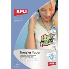APLI Vasalható fólia, tintasugaras, fehér pólóhoz, APLI nyomtató kellék