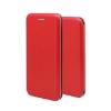 Apple Forcell Elegance Apple iPhone X oldalra nyíló mágneses könyv tok szilikon belsővel piros