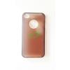 Apple iGlaze Apple iPhone 4G/4S sárga/barna műanyag hátlapvédő