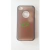 Apple iGlaze Apple iPhone 4G/4S világoskék/barna műanyag hátlapvédő