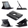 Apple iPad 2 / iPad 3 / iPad 4, bőrtok, mappa tok, elforgatható (360°) fekete
