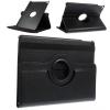 Apple iPad Air 2, bőrtok, mappa tok, elforgatható (360°) fekete