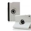 Apple iPad Mini 3, bőrtok, mappa tok, elforgatható (360°) fehér