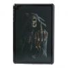 Apple iPad Mini, műanyag hátlap védőtok, koponya, 3D hatás, fekete