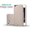 Apple iPhone 5 / 5S / SE, Műanyag hátlap védőtok, Qi Wireless vezeték nélküli töltés, Nillkin Magic Case, arany