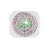 Apple iPhone 5G ezüst köves home gomb