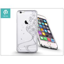 Apple iPhone 6/6S hátlap Swarovski kristály díszitéssel - Devia Crystal Secret Garden - silver tok és táska