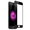 Apple iPhone 6 / 6S, Kijelzővédő fólia, ütésálló fólia (az íves részre is!), Tempered Glass (edzett üveg), fekete