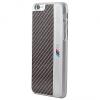 Apple iPhone 6 / 6S, Műanyag hátlap védőtok, BMW Signature, carbon, fekete BMHCP6MEB