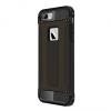 Apple iPhone 6 / 6S, Műanyag hátlap védőtok, Defender, fémhatású, fekete