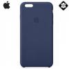 Apple iPhone 6S Plus 5.5 Műanyag telefonvédő, valódi bőr LEATHER Case ÉJKÉK
