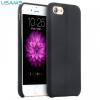 Apple iPhone 7 / 8, Műanyag hátlap védőtok, Usams Joe, bőrbevonat, varrásminta, fekete