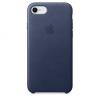 Apple iPhone 8 / 7 bőrtok - éjkék
