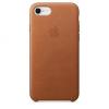 Apple iPhone 8 / 7 bőrtok - vörösesbarna