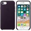 Apple iPhone 8/7 gyári bőr hátlap tok, sötét padlizsán, MQHD2ZM/A
