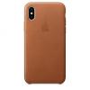 Apple iPhone X bőrtok - vörösesbarna