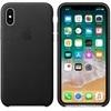 Apple iPhone X gyári bőr hátlap tok, fekete, MQTD2ZM/A