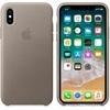 Apple iPhone X gyári bőr hátlap tok, vakondszürke, MQT92ZM/A