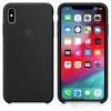 Apple iPhone XS Max gyári szilikon hátlap tok, fekete, MRWE2ZM/A
