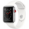 Apple Watch 3 42mm Stain. St. Silver w/ White Sport Loop LTE MQLY2ZD/A