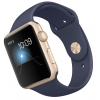 Apple Watch Aluminium Case Gold 42mm - Blue Sport Band
