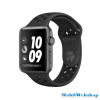 Apple Watch Series3 Nike+ 38mm Aluminium Silver Plastic Sport Band Platinum Black MQKX2