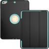 """AppleKing Extra tartós védő borító alvás funkcióval Apple iPad 9.7"""" (2017) / iPad 2018 / iPad Air - fekete / türkizkék"""