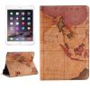 AppleKing Védő borító állvánnyal és irattárolóval Apple iPad Mini 4 régi térkép mintával